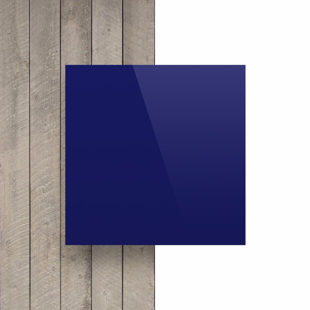 Letterplaat nachtblauw voorkant