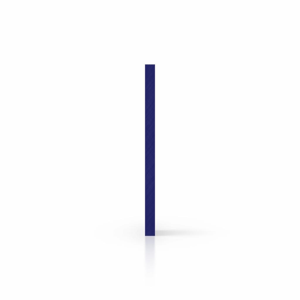 Letterplaat nachtblauw zijkant
