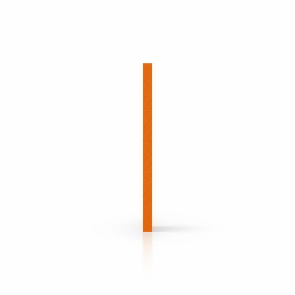 Letterplaat oranje zijkant
