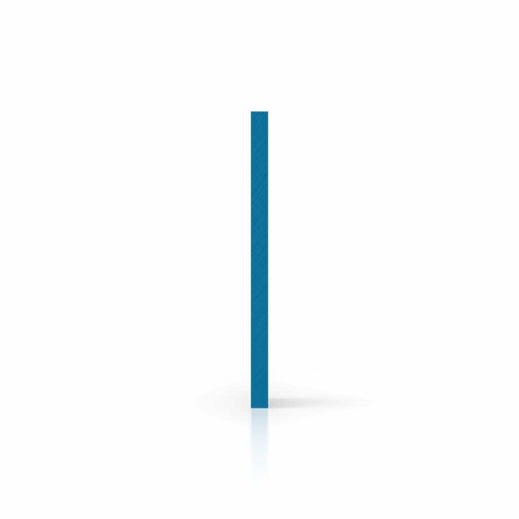 Letterplaat verkeersblauw zijkant
