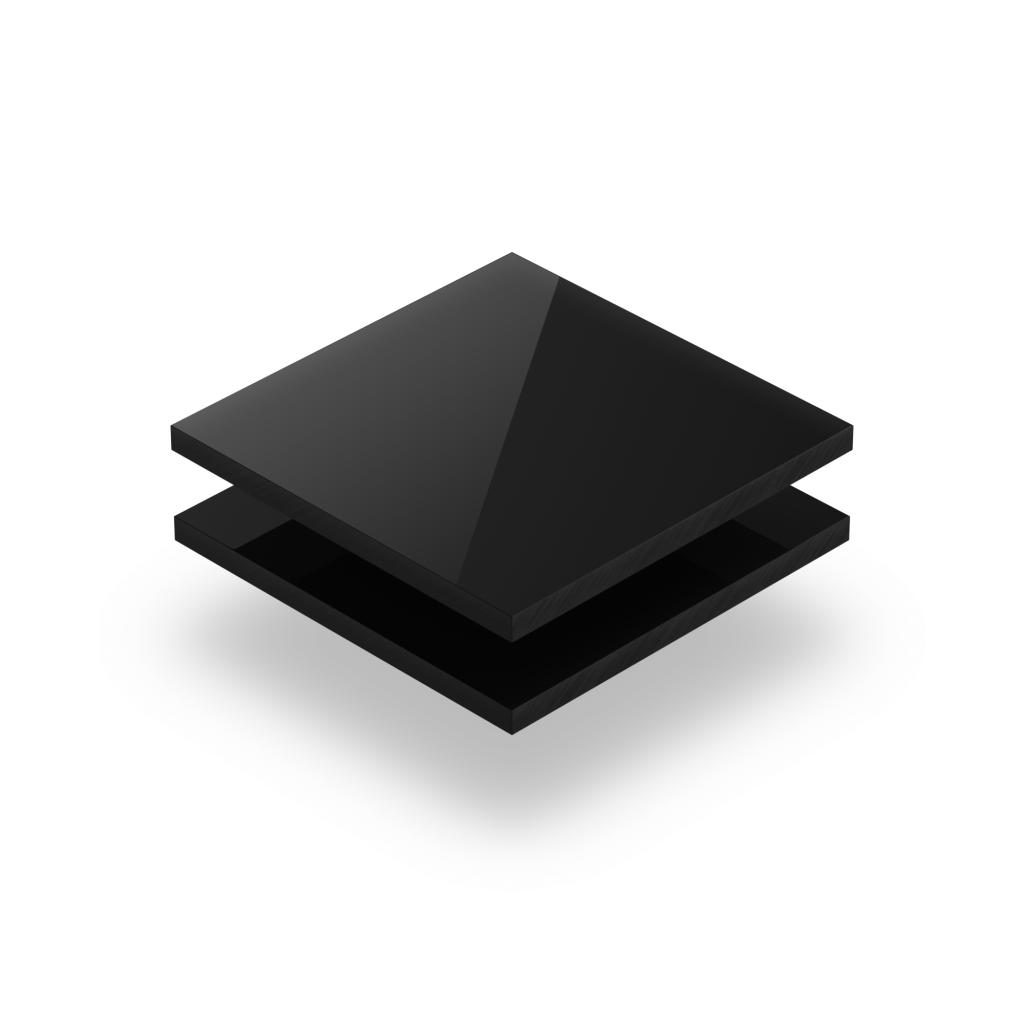 Letterplaat zwart 8mm