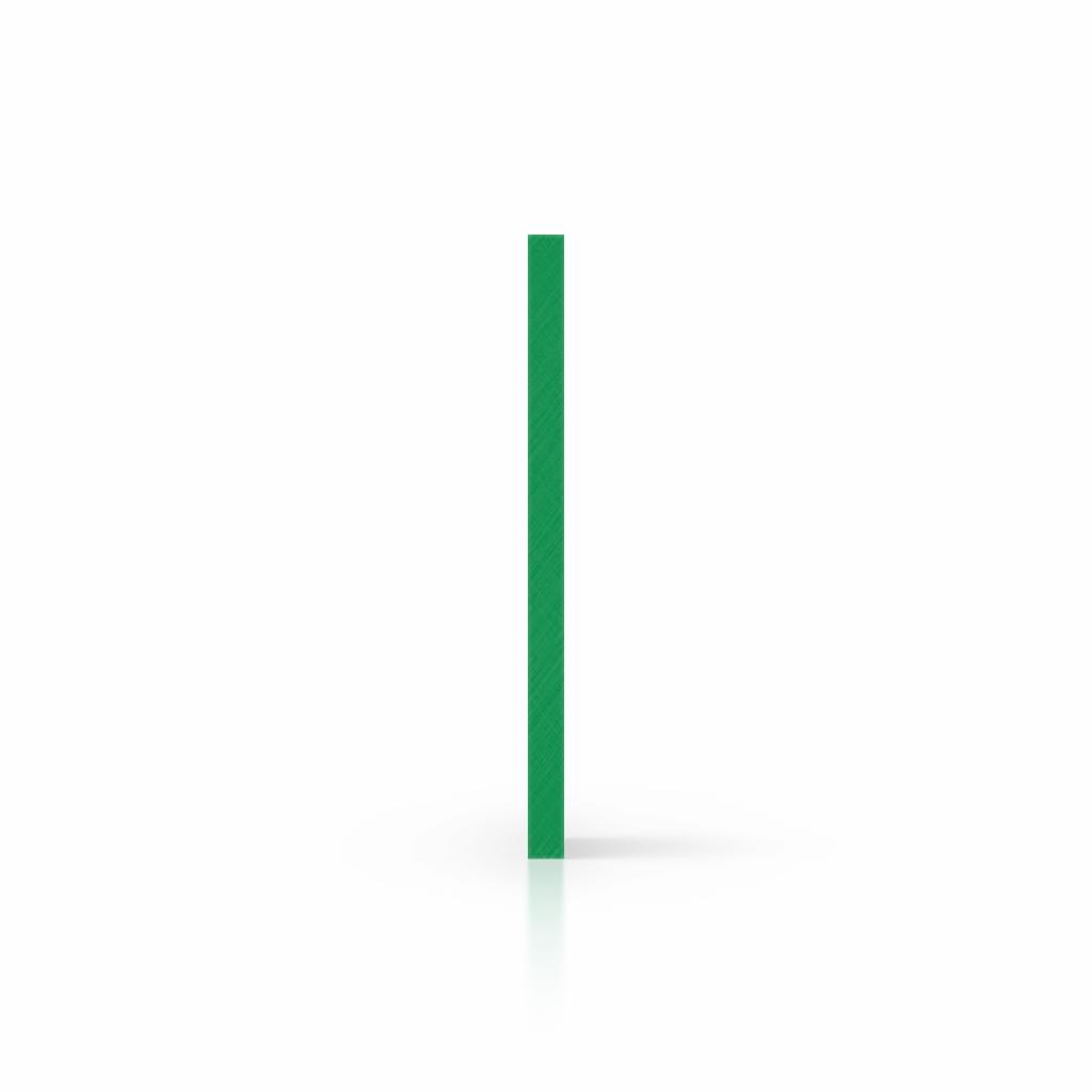 Letterplaat mintgroen zijkant