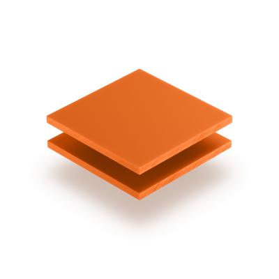 Letterplaat oranje 8mm mat