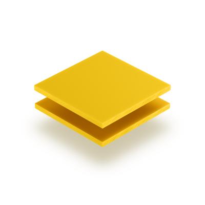 Letterplaat verkeersgeel 8mm mat