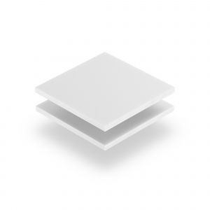 Letterplaat wit 8mm mat