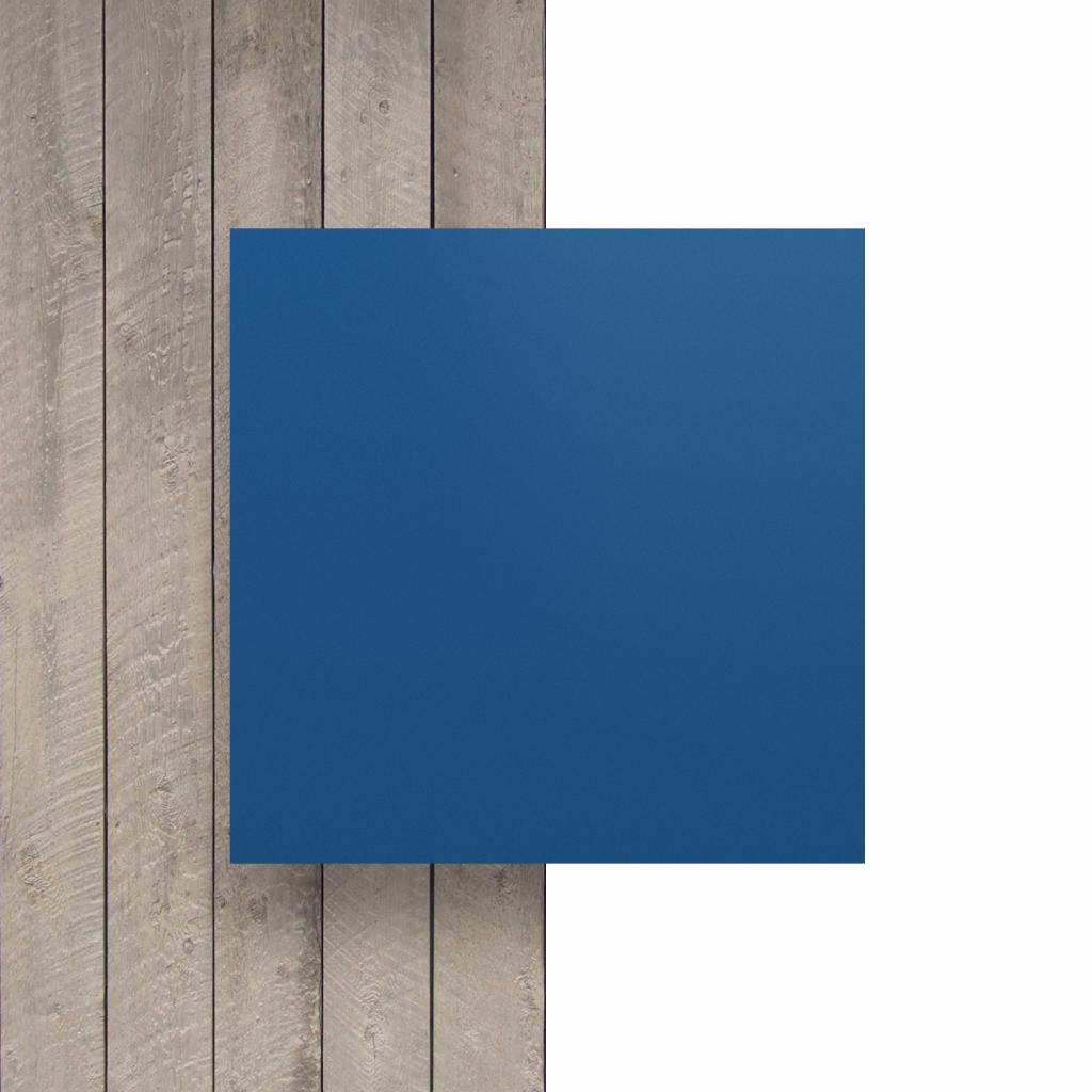 Voorkant letterplaat blauw mat