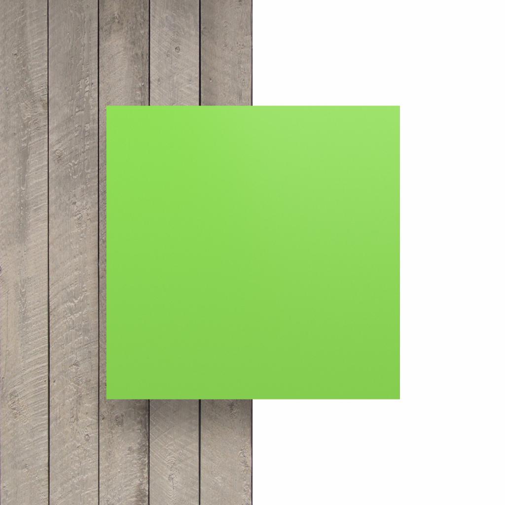 Voorkant letterplaat geelgroen mat