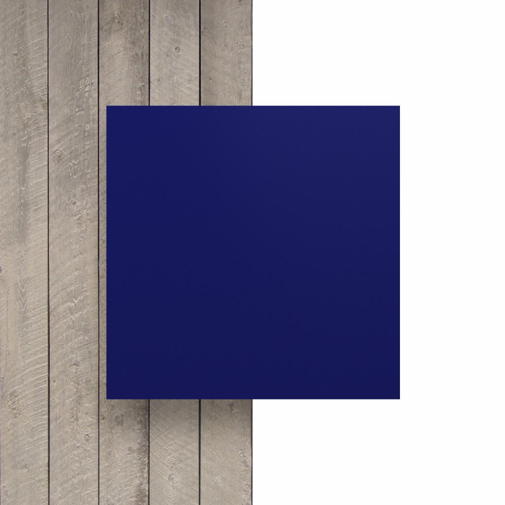 Voorkant letterplaat nachtblauw mat