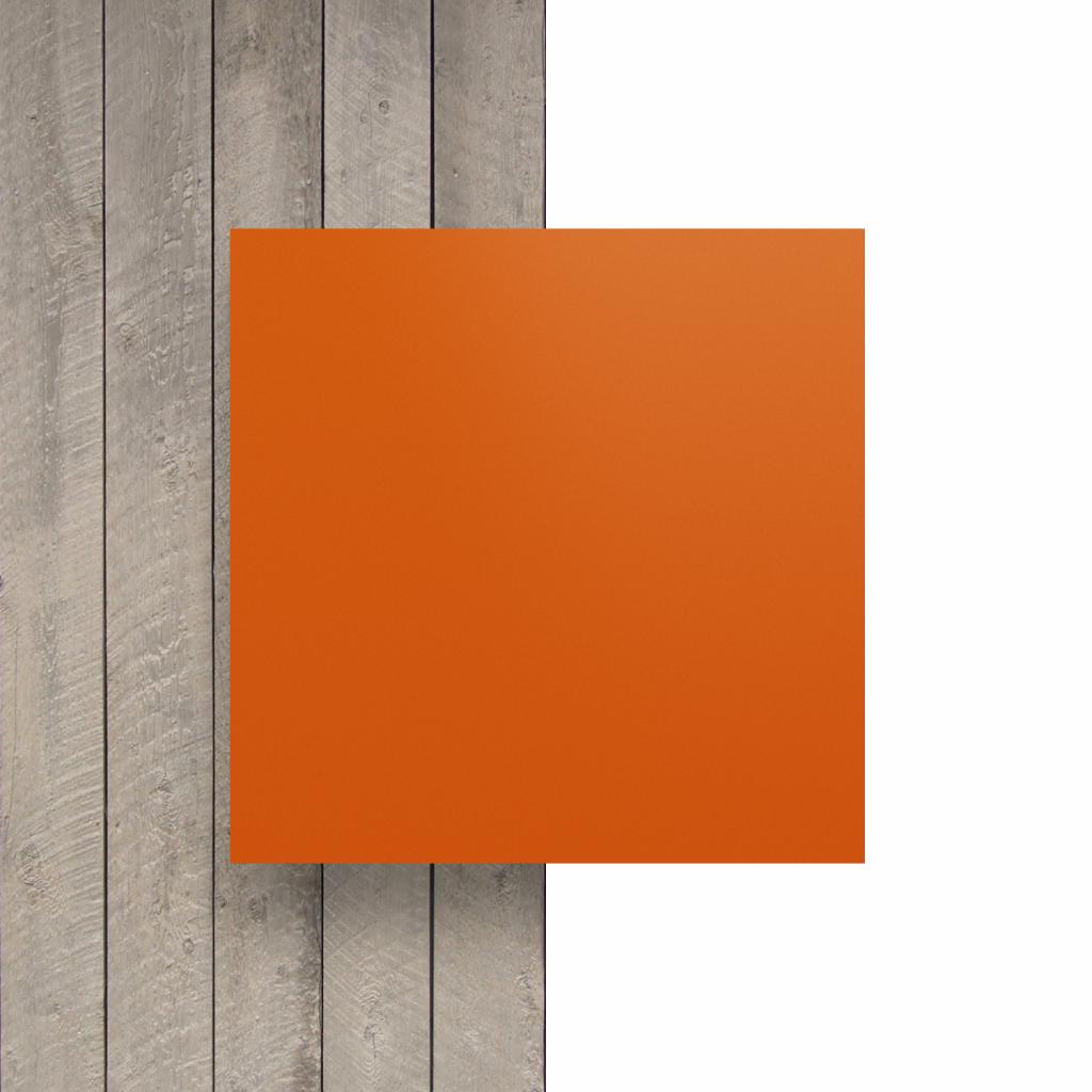 Voorkant letterplaat oranje mat