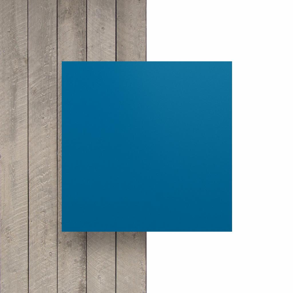 Voorkant letterplaat verkeersblauw mat
