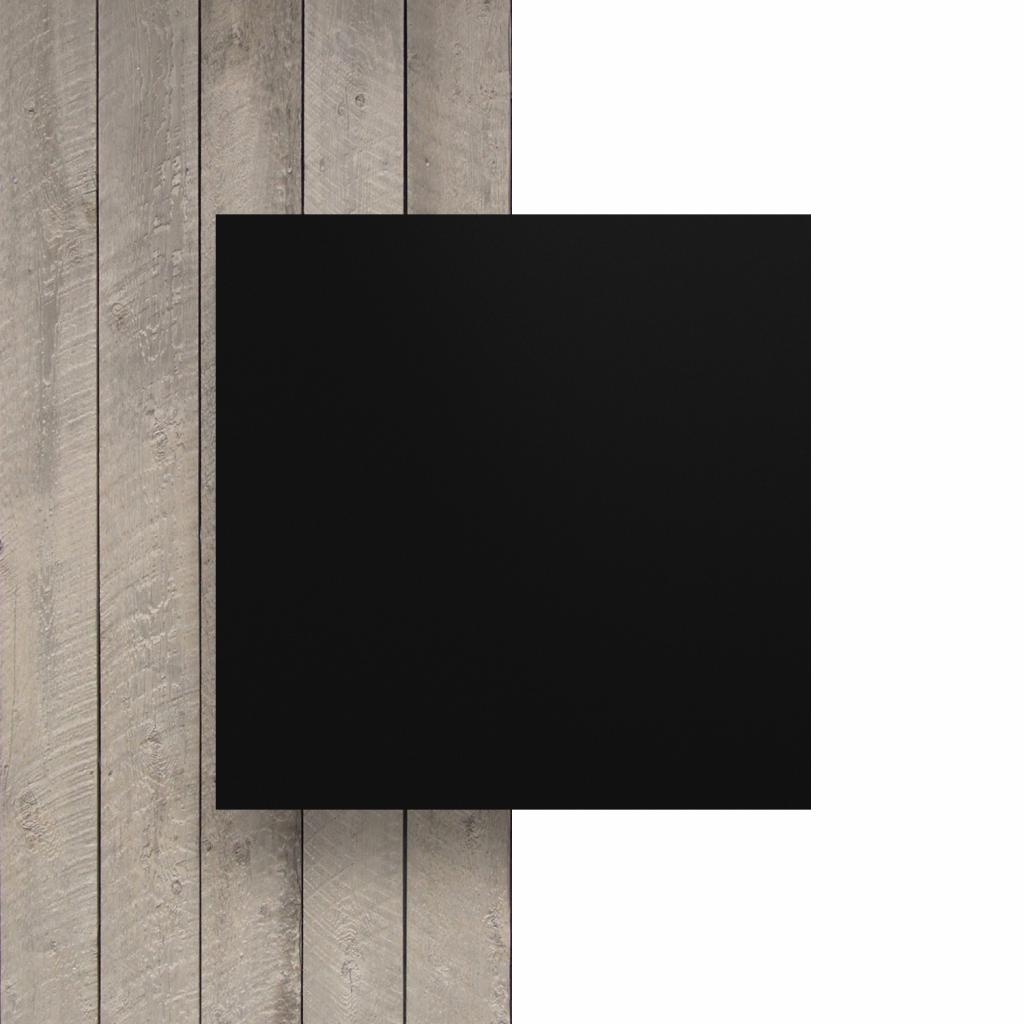 Voorkant letterplaat zwart mat