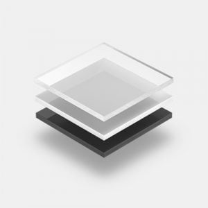 Hard PVC platen met grijze achtergrond