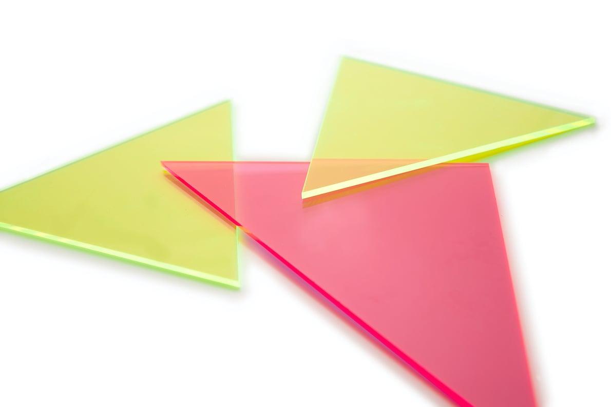 Kunststof vorm driehoek