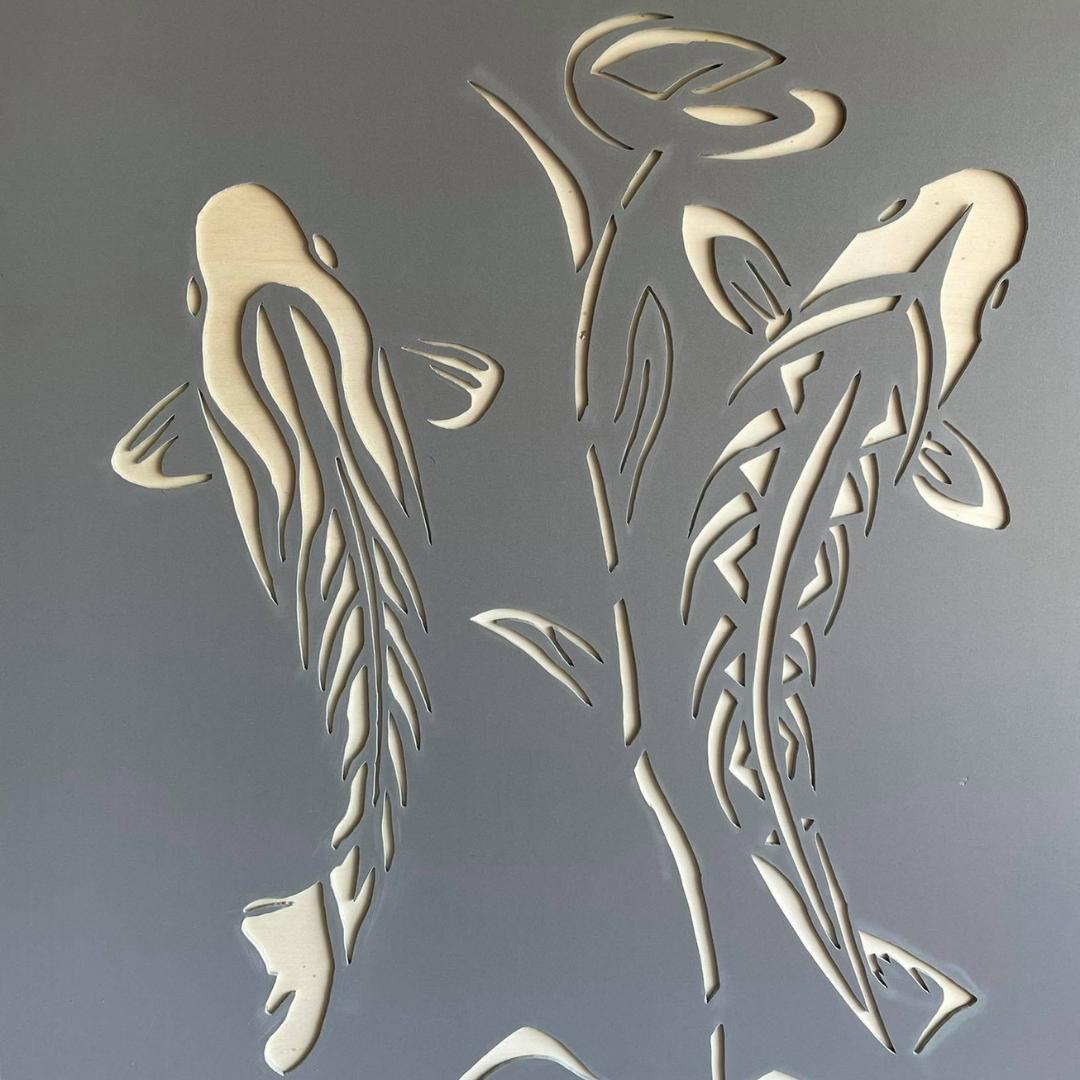 Kunstwerk vissen van PVC 2