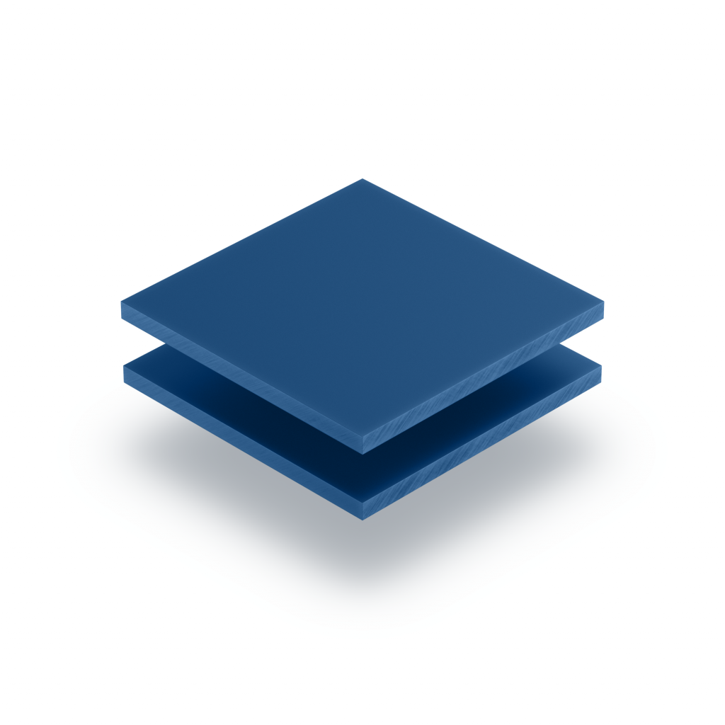 Letterplaat blauw 8mm mat