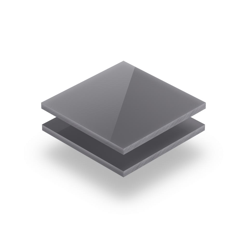 Letterplaat grijs 8mm glanzend