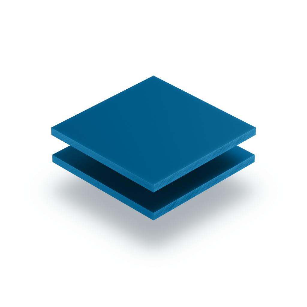Letterplaat verkeersblauw 8mm mat