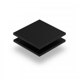 Letterplaat zwart 8mm mat