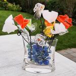 Plexiglas bloemen kunstwerk